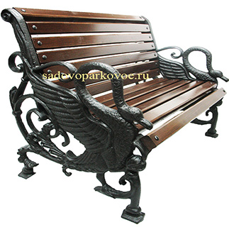 Чугунная скамейка «Лебедь»