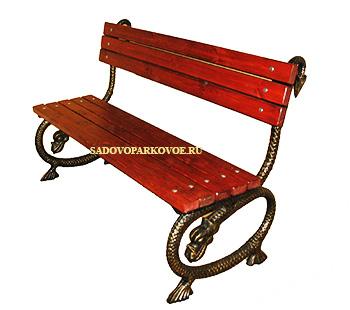 """Чугунная скамейка """"Дракоша"""""""
