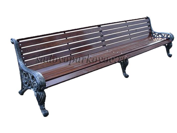 """Чугунная скамейка """"Парковая"""" 3м"""