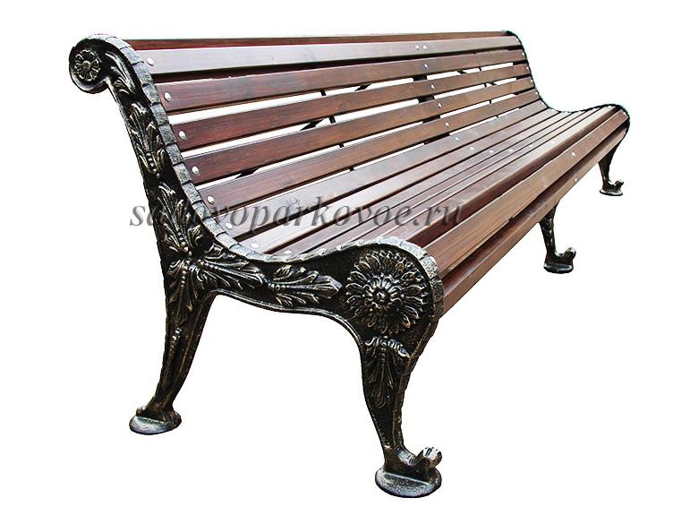 "Чугунная скамейка ""Хризантема"" 3м"