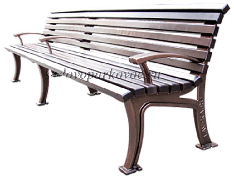 Скамейка чугунная Москва 3м
