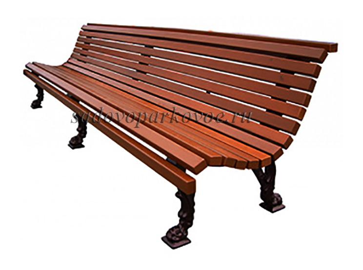 "Чугунная скамейка ""Лев"" 3 м."