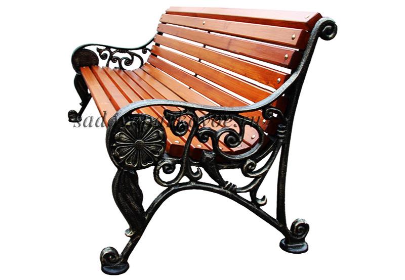 Скамейка чугунная «Парк Чаир»