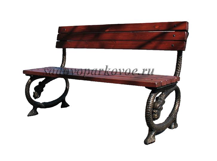 Скамейка чугунная Дракоша