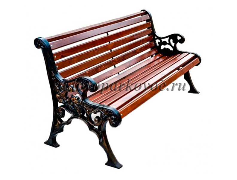 "Чугунная скамейка ""Лилия"""