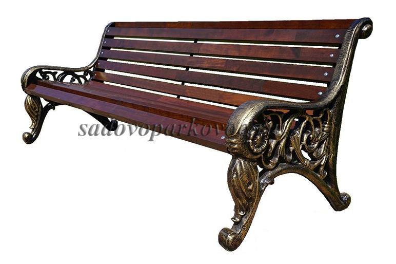 Чугунная скамейка «Парковая»