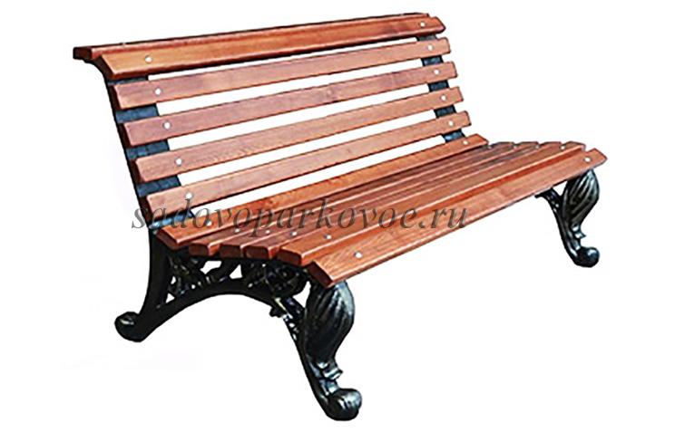 Скамейка чугунная Отдых