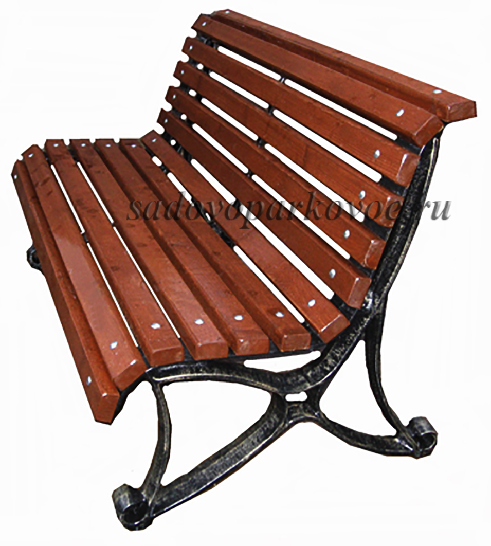 Чугунная скамейка «Пифагор»